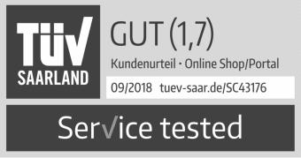 TÜV geprüfter Service Note 1,7